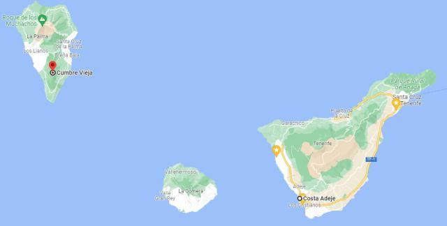 Kort af Kanaríeyjum