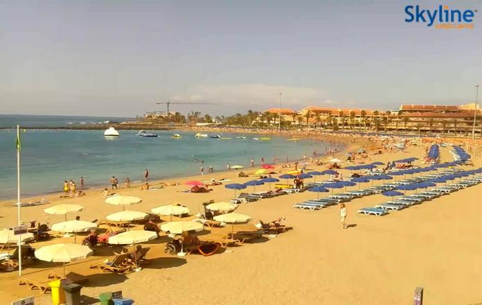 Webcam spiaggia di Los Cristianos a Tenerife da Skyline il miglior sito di webcam per le Canarie