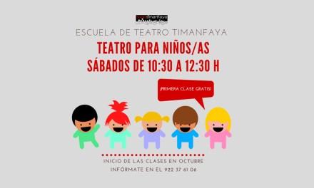 El Teatro Timanfaya abre sus puertas a los más pequeños