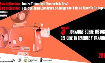 El IEHC organiza las III Jornadas sobre la Historia del Cine en la isla de Tenerife y Canarias