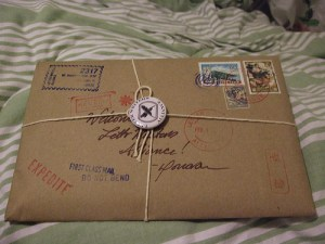 Package from The Letter writers alliance