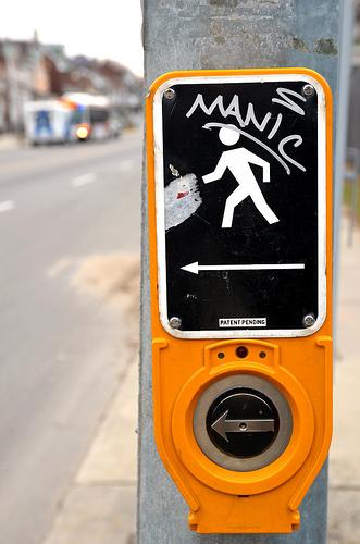manic button