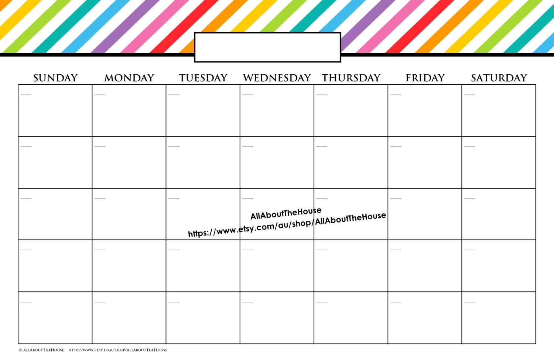 Print Google Calendar On 11X17 | Ten Free Printable ...