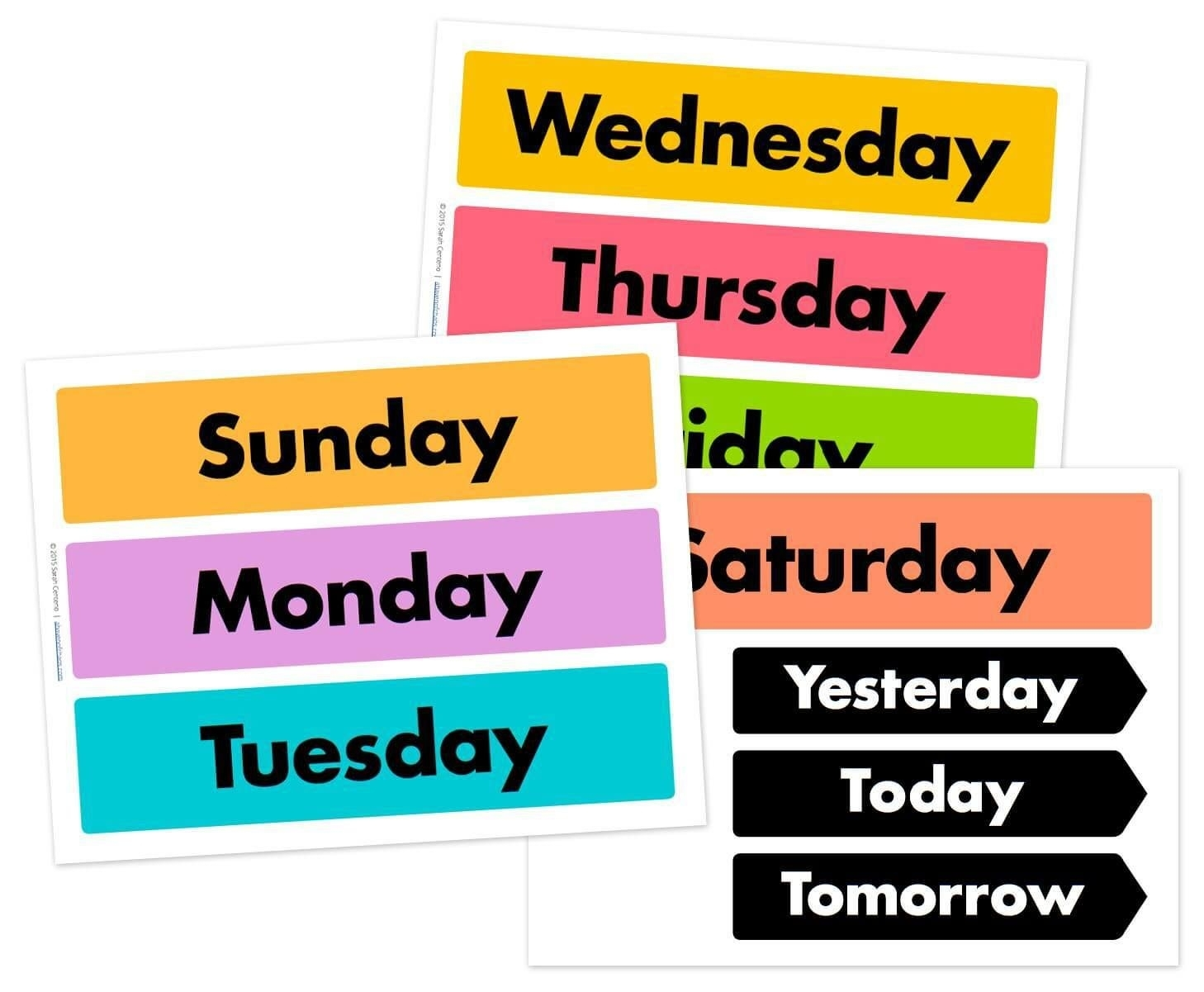Printable Calendar Days Of The Week