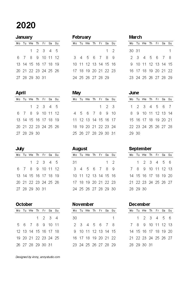 Year View Calendar Printable   Ten Free Printable Calendar ...