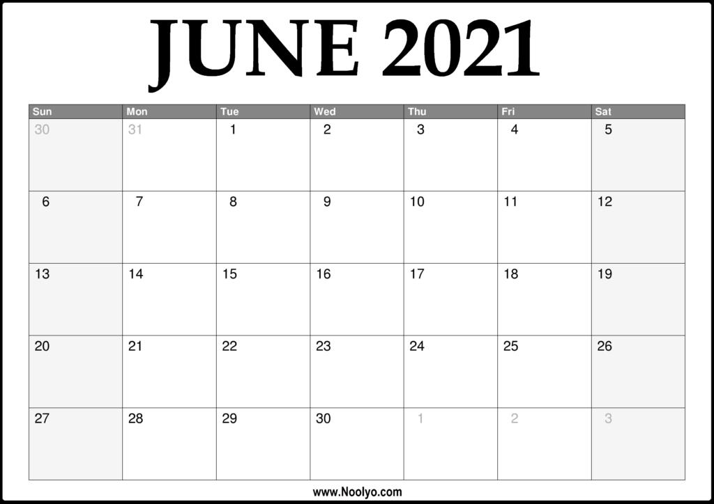 2021 Printable Monthly Calendar   Ten Free Printable ...