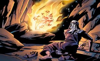Moisés ante la zarza ardiente