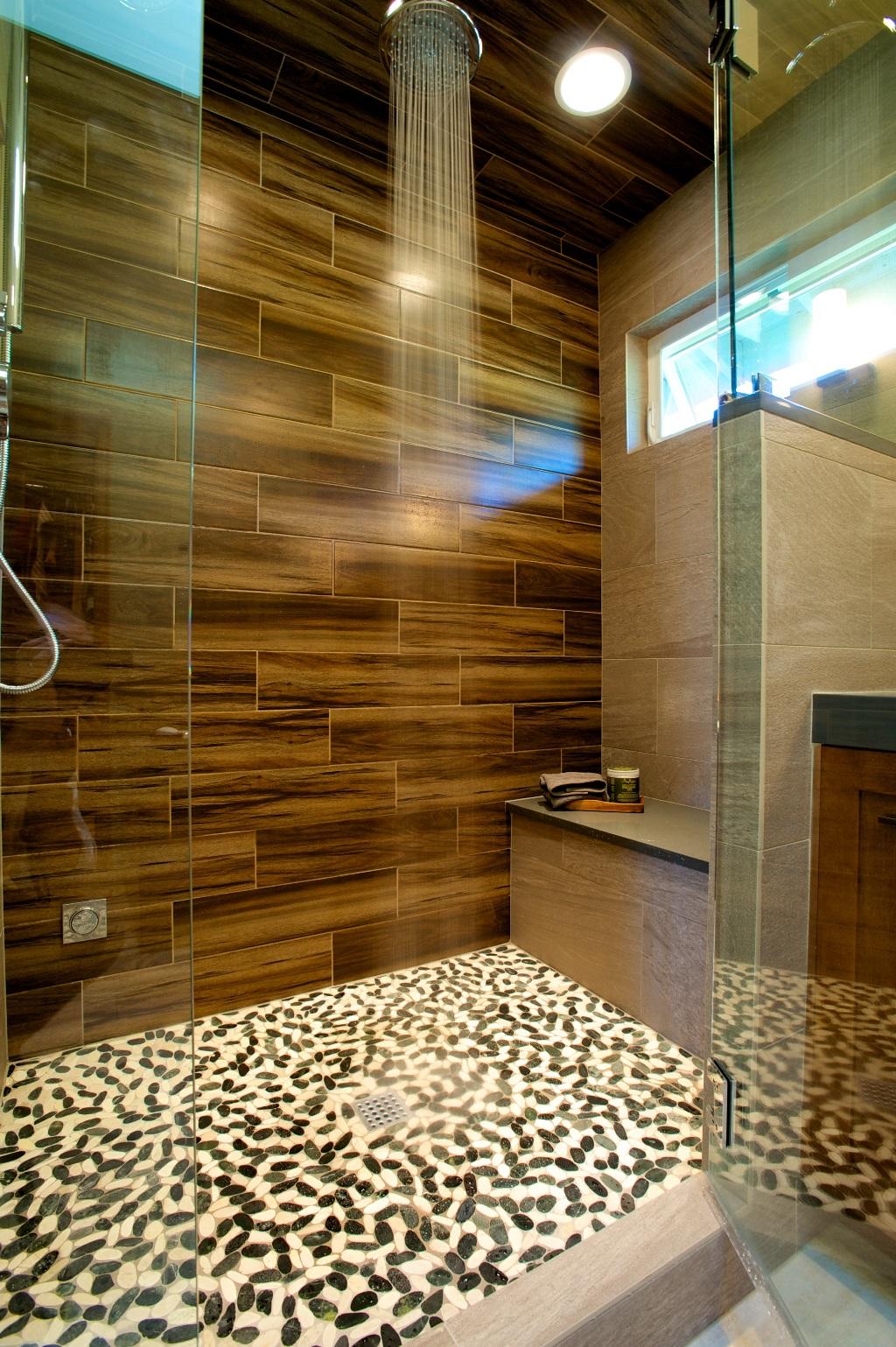 Tenhulzen Residential  Wood Stone Master Bath  Tenhulzen Residential