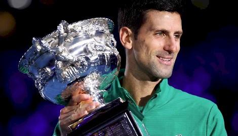 Novak Djokovic - Campeão do Australian Open 2020 (divulgação Australian Open)