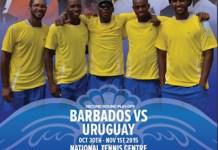 Afiche Copa Davis Uruguay Barbados