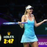 María Sharapova superó a Simona Halep en sets corridos