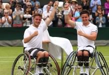 Alfie Hewett y Gordon Reid, el primer ganador de Wimbledon en silla de ruedas