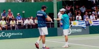 Martin Cuevas y Felder ganaron el punto de dobles