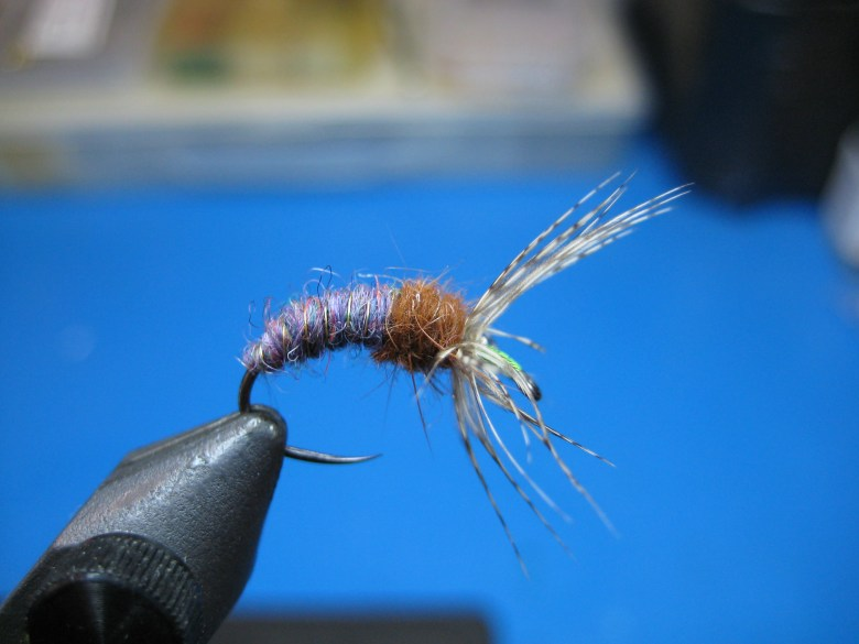 Tom Davis - Wool Bodied Tenkara Flies - Grave Digger