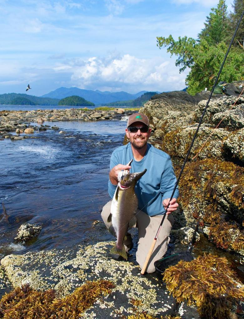 Tenkara Rod Buying Guide - Tenkara Angler - Pink Salmon on Tenkara Rod