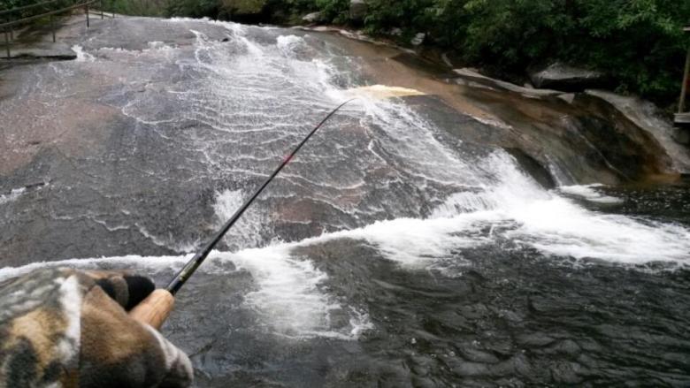Sliding Rock Rainbow - Tenkara Angler - Fishing the Pool