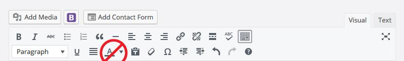WordPress toolbar text color