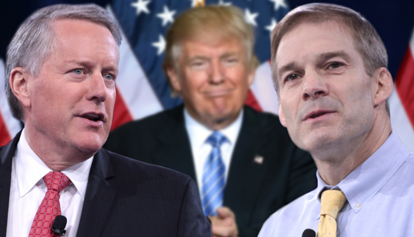 Image result for trump mark meadows and jim jordan