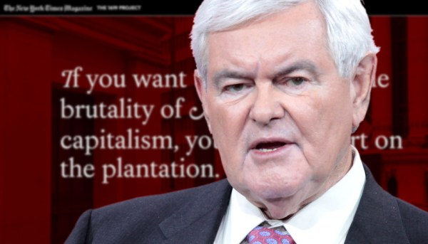 1619 project Gingrich Calls the New York Times' '1619 Project' to