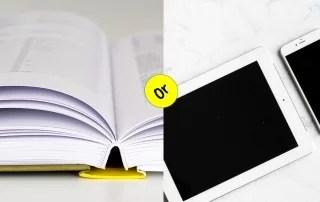 Digital Textbook, Physical Textbook
