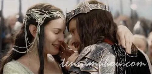 ゴンドールの王となったアラゴルンとアルウェン