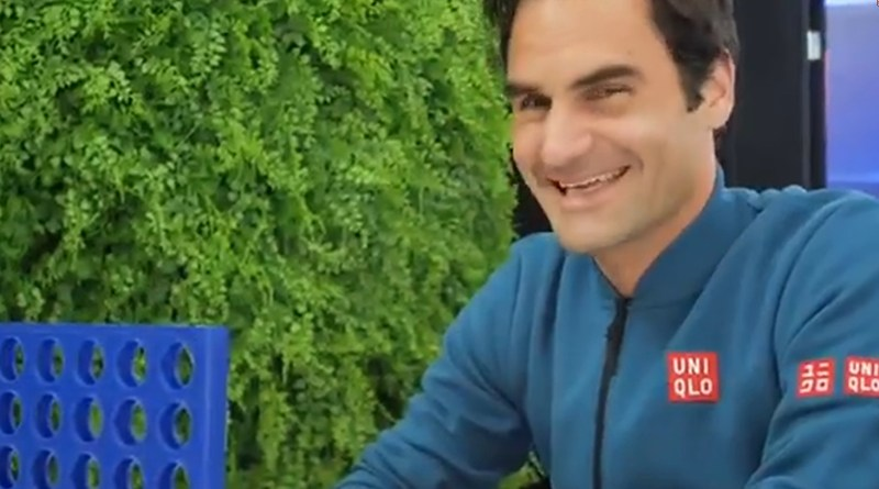 Roger Federer Playing Board Game