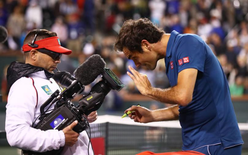 Roger Federer Interview after Wawrinka's Match