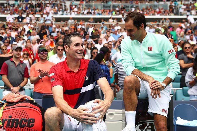 Roger Federer answered Isner's post on Instagram