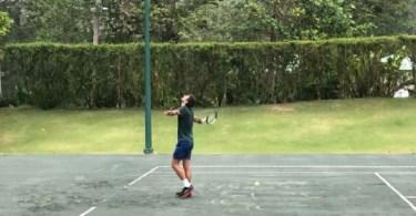Novak Djokovic Training in Dominican Republic