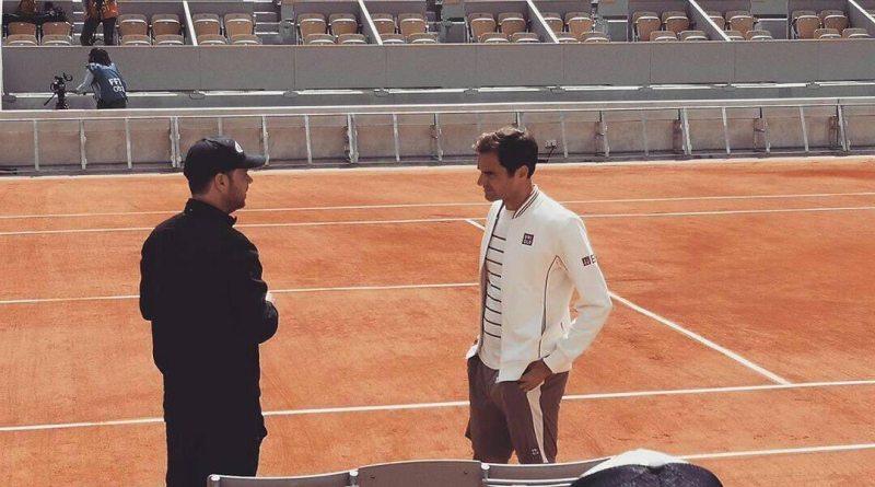 Watch: Federer 1st Practice at Roland Garros 2019