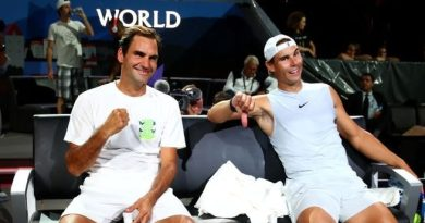 Roger Federer mocks Nadal in the Laver Cup practice