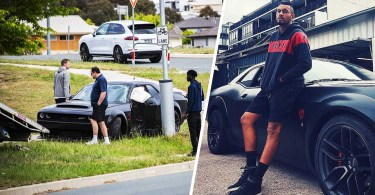 Nick Kyrgios car destroyed in $300,000 Dodge Challenger SRT Demon