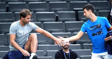 Rafael Nadal thanks Novak Djokovic ahead of Paris Bercy