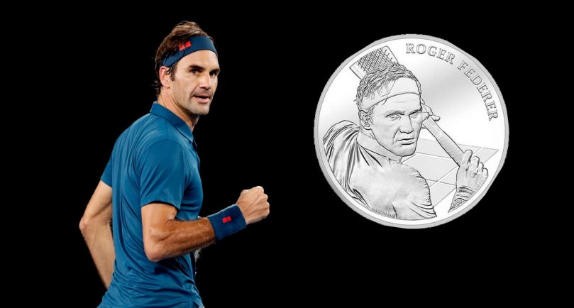 Switzerland honored Roger Federer with a commemorative coin