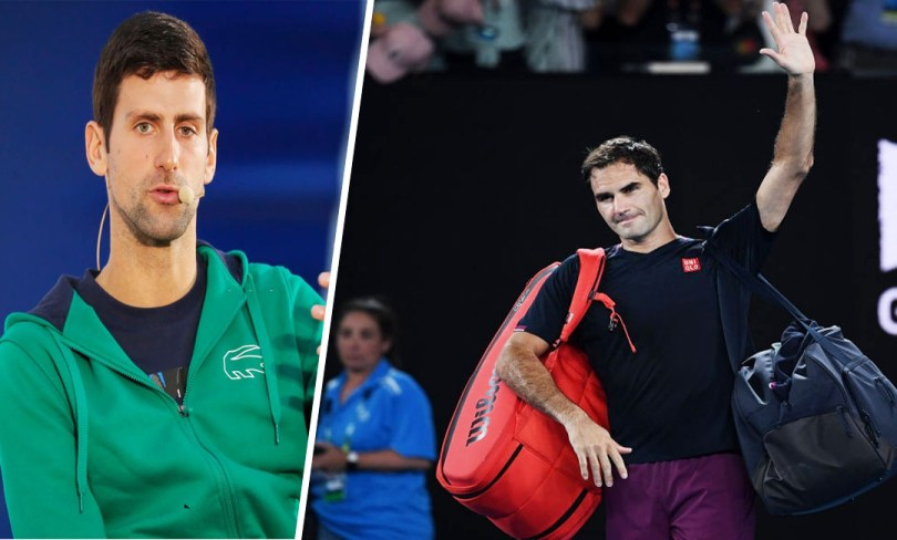 Novak Djokovic.... is shocked about Roger Federer Injury