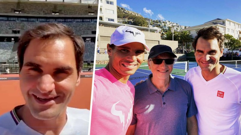 "Roger Federer Trolls back Rafael Nadal ""Orange but not Clay"""
