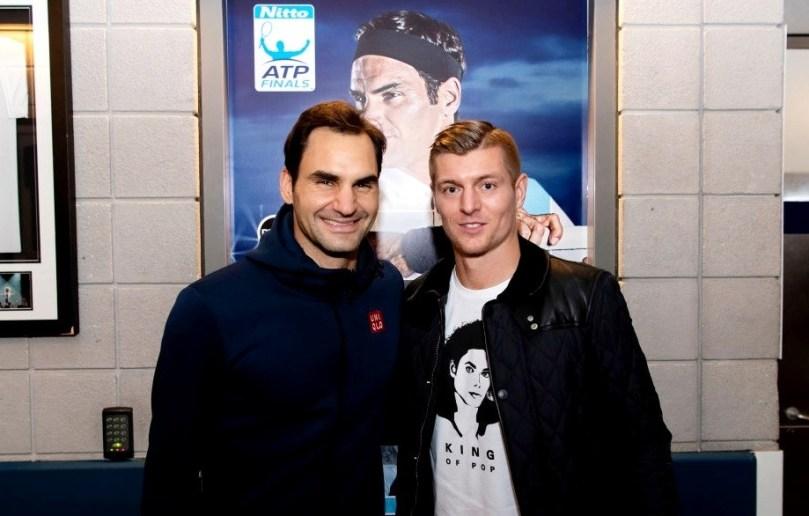 """Toni Kroos """"it's not hard for me to be a fan of Roger Federer."""""""