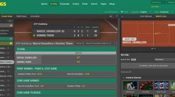 bet365 Tennis In-play