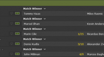 bet365 tennis odds