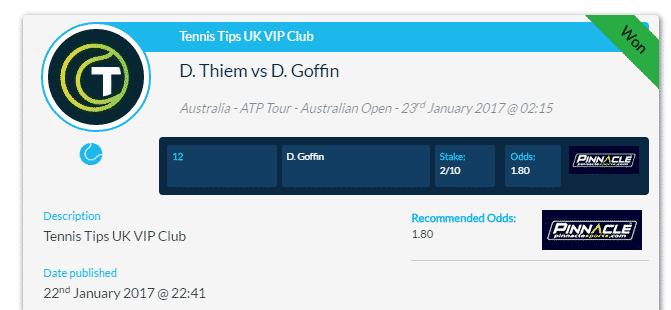 David Goffin v Dominic Thiem
