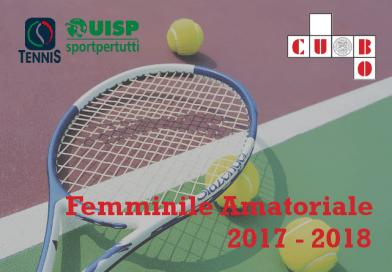 """""""Femminile Amatoriale CUBO UNIBO"""" UISP Tennis Campionato Bolognese 2017/2018"""