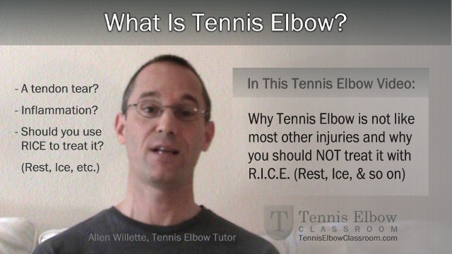 What Is Tennis Elbow Video