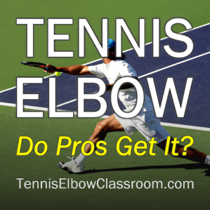 Image of Tennis Player: Pros And Tennis Elbow