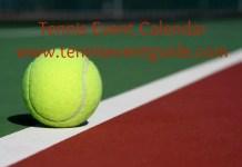 Tennis Event Calendar