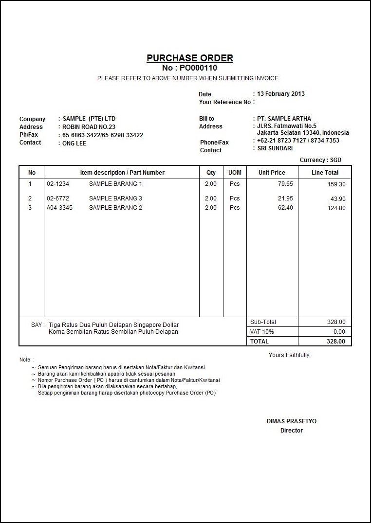 Contoh Purchase Order Barang : contoh, purchase, order, barang, Contoh, Purchase, Order, Tennisfasr