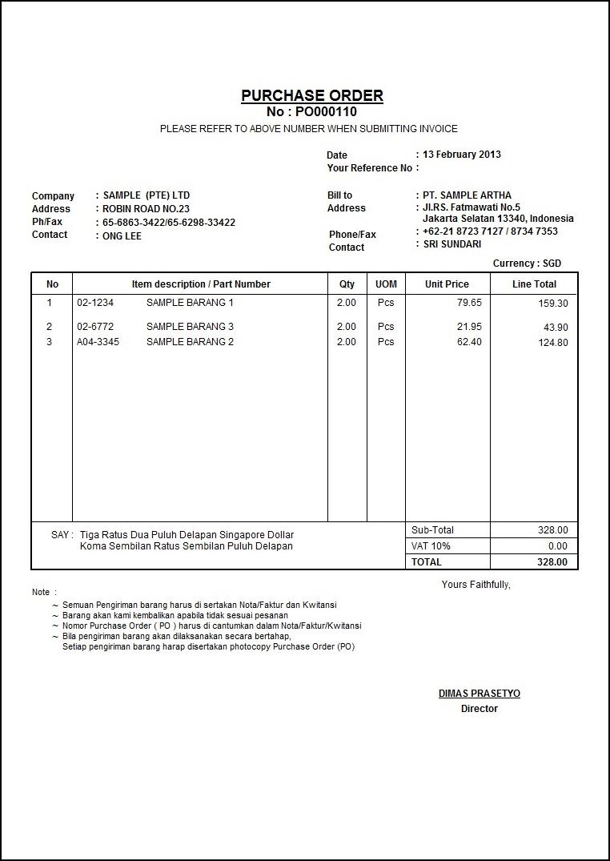 Form Permintaan Barang Excel : permintaan, barang, excel, Contoh, Purchase, Order, Tennisfasr