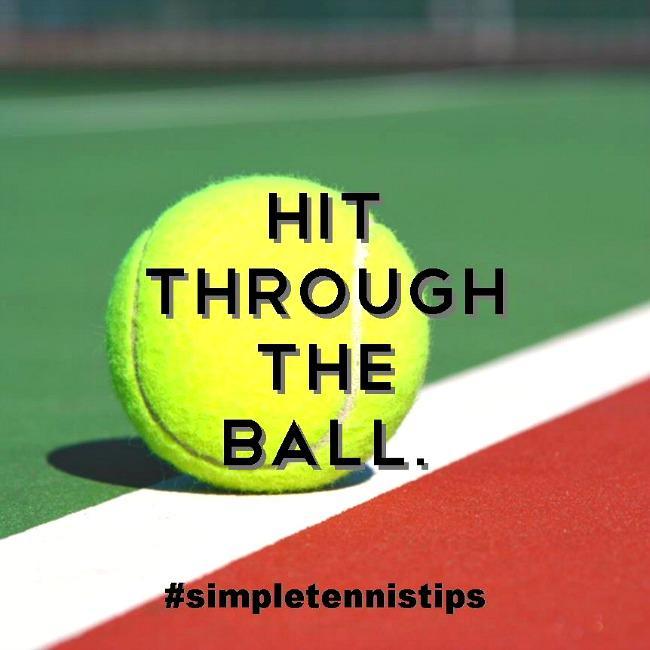 Hit Through The Ball
