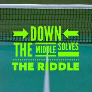 Simple Tennis Tip – Down The Middle Solves The Riddle