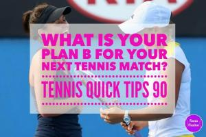 What is Your Plan B for Your Next Tennis Match? Tennis Quick Tips Podcast 90