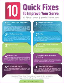 10 Quick Serve Fixes - Cheat Sheet